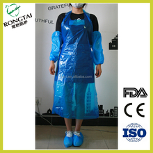Family / hospital use food grade kitchen anti-oil Waterproof PE apron
