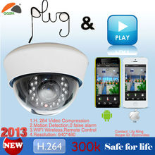 2013 new products high focus wireless wifi ip dome camera