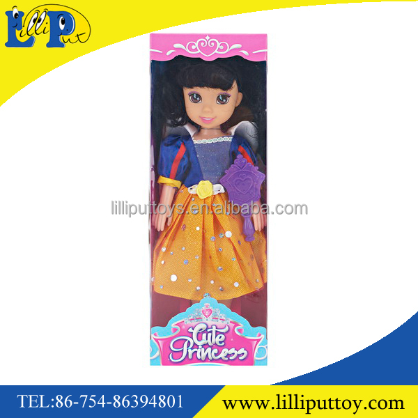 Happy girls toys high quality 14 inch fashion girl doll princess play set