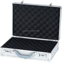 Aluminum Padded Storage Pistol Case, Carry Lock Handgun or Camera Protector Safe