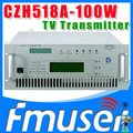 CZH6518A-100W Single-channel Analog TV Transmitter UHF 13-48 Channel tv broadcasting equipment