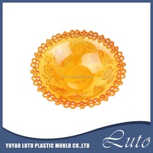 Promotion Hot Selling High Foot Round Tranparent Acrylic Fruit Plate