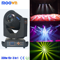 Factory 330w moving head light beam spot wash 3in1 , beam 15r sharpy