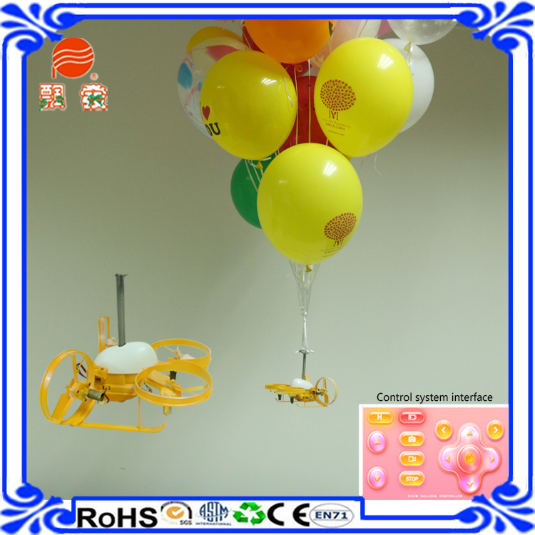 New design flying wedding balloon mobile phone controlled