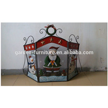 Christmas decoration wrought iron fireplace screen