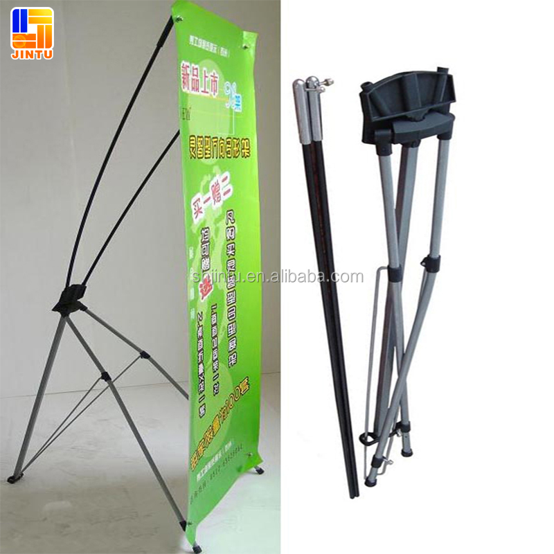 Fashionable design retractble digital printing X shape banner stand