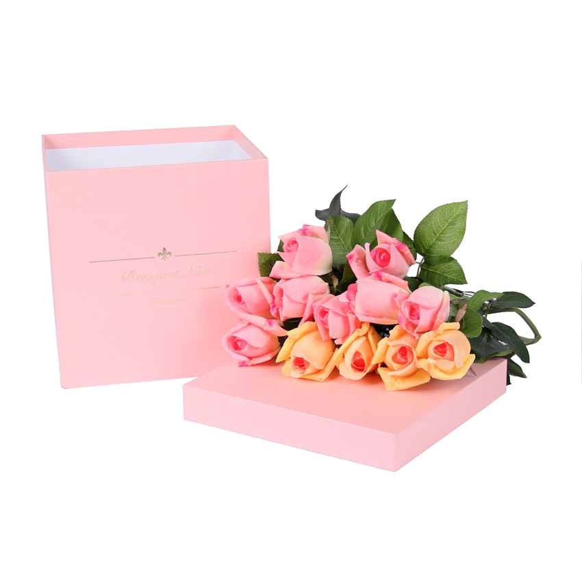 China supplier luxury square flower gift hat cardboard paper box