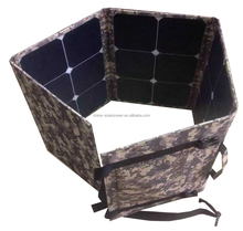portable solar charger folding solar panel kit to charge 12V battery