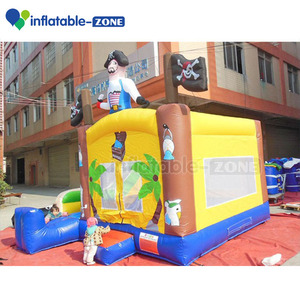 New design crown inflatable jumping house, inflatable skull castle with slide