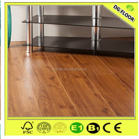 2016 Newest Asian walnut waterproof V-groove wooden texture laminated floor