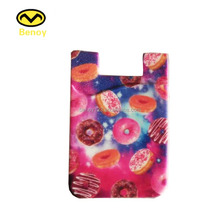 New Design RFID Protective silicone Card Holder 3M Adhesive Cell Phone Case Sticker Credit Card Holder