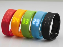 New and Fashion custom fitbit flex wristband Bluetooth smart watch wrist band step counter