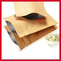 200pcs/lot 8cm*11cm*140mic High Quality Food Kraft Paper bag With Zipper Top Nuts Packaging Bags Wholesaler