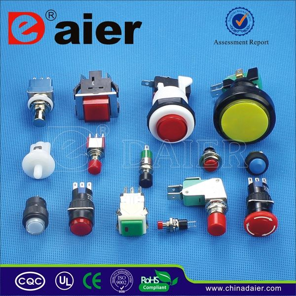 Daier 2 position pcb push button key switch