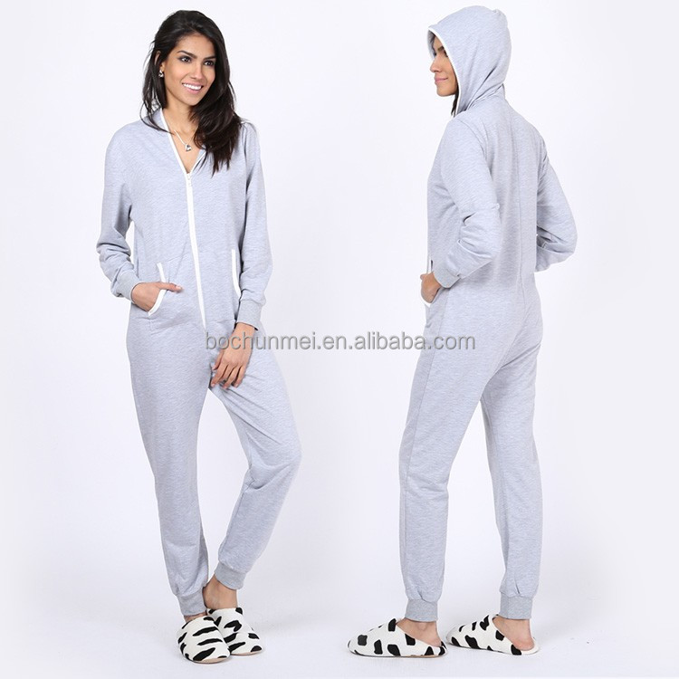 2017 wholesale pajama crazy sale jumpsuit with hoodied