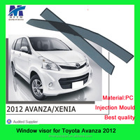 Injection mold type Avanza 12 window visor car decoration accessories