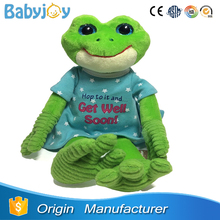 green frog plush toy, jumping frog toy