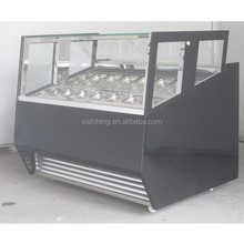 Italian gelato ice cream freezer Display Cabinet