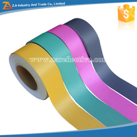 Safety Reflective Material Polyester Reflective Tape Grey Color Reflective Fabric Tape