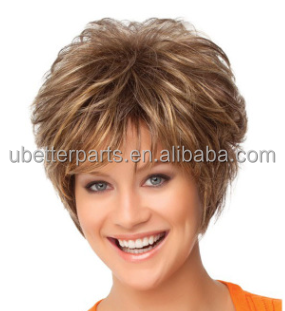 "10"" Short Synthetic Hair Curly Blonde Wigs African American Wig Cheap Cosplay Synthetic Natural Wigs"