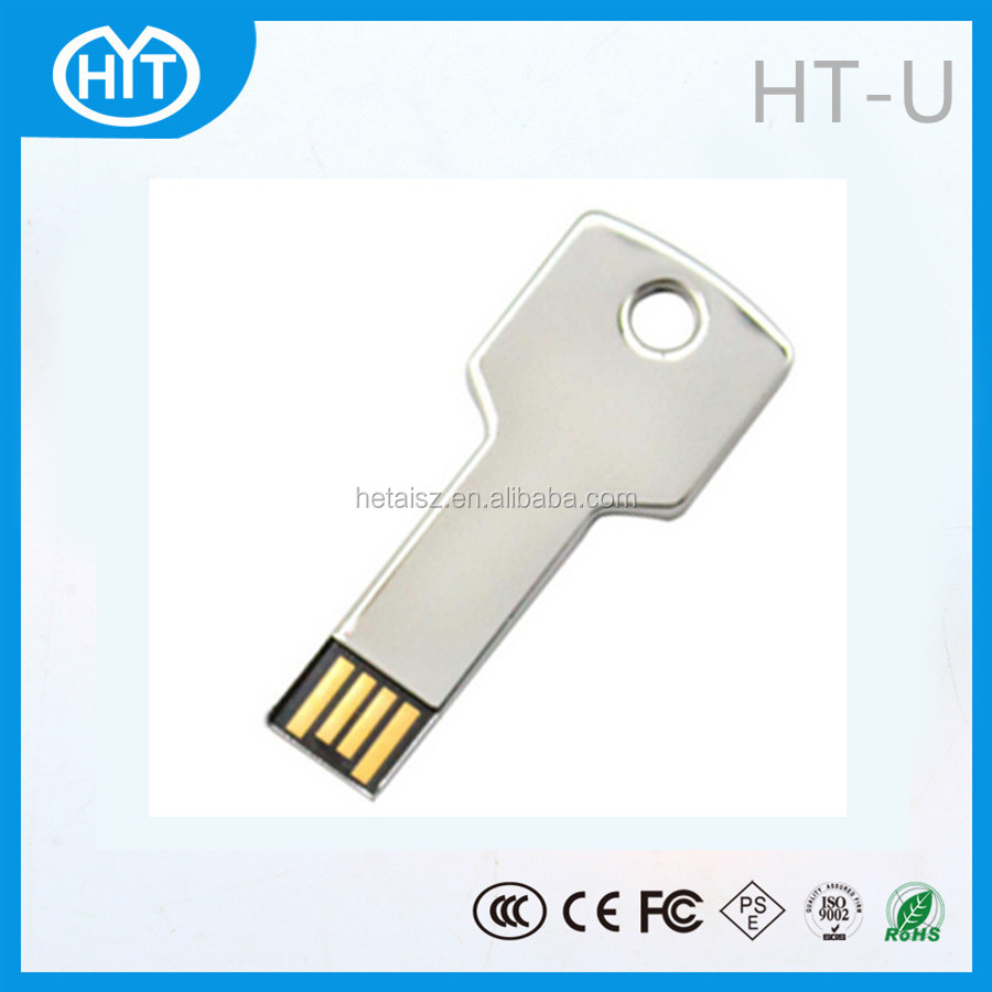 HT-U Low Cost Mini USB Flash Drives,Key 2.0 USB flash drive, Metal key USB memory stick
