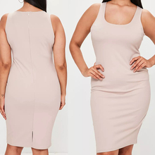 European ghana styles dress designs fat ladies elastane nude sleeveless bodycon midi sexy dresses for women