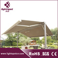 Double sided freestanding retractable awning (italy)
