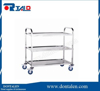 3 layers service cart, food service trolley