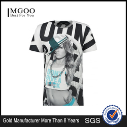 Customize Cheap Fashion Printing Men'S T-Shirts Crew Neck Slim Fit Style In Buk Plain China/T-Shirt Printing Supplier