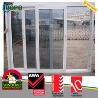 Wood color frame 3 panels veneer airtight door