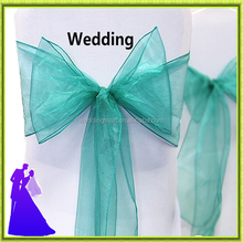 2017 hot selling Marious colors organza chair sash for wedding decoration