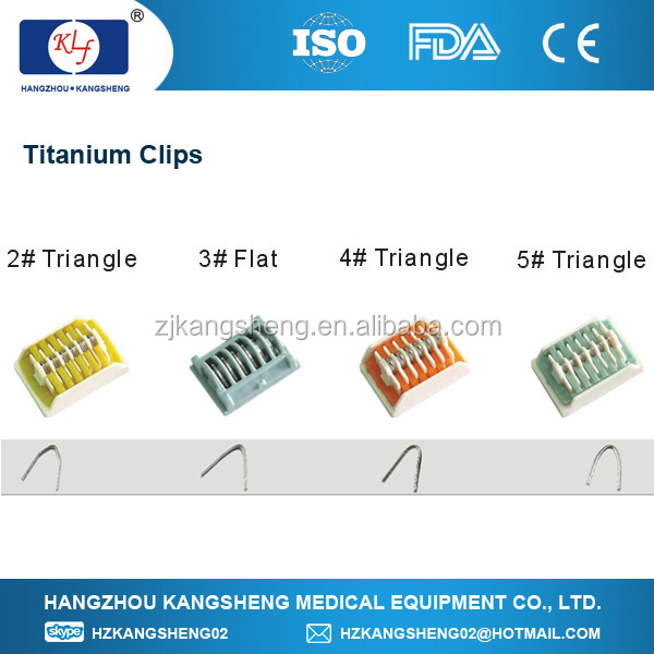 Without trauma surgical appliances Effective therapeutic tool Metal medication applicator Titanium Metal Clip
