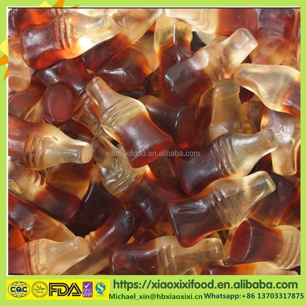 cola jelly candy by single pillow packing in China