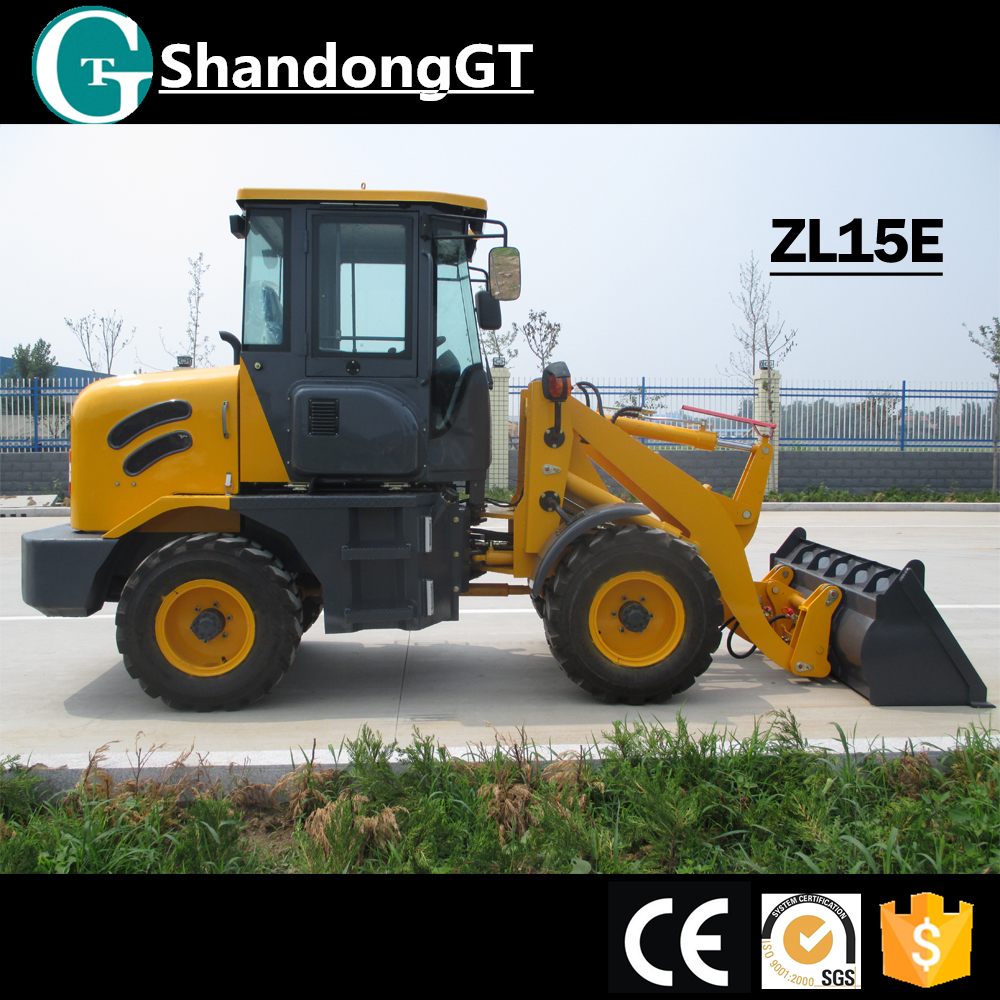 Chinese ZL15E Mini Wheel Loader