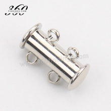 Custom jewelry tube 2 strand metal clasp magnetic slide lock clasp