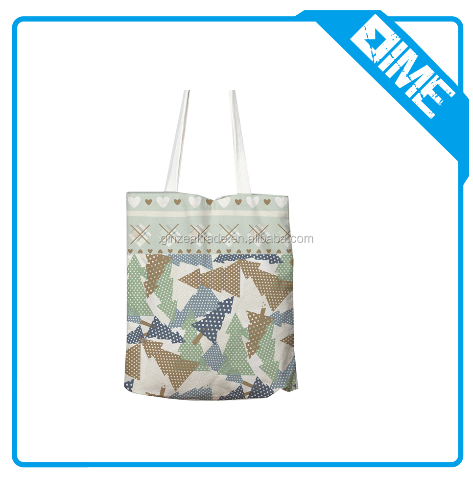 Popular Wholesale Eco-friendly Organic Cotton Shopping Handled Bag