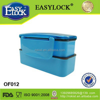 2014 colorful plastic lunch box new promotional idea product items with lock lid
