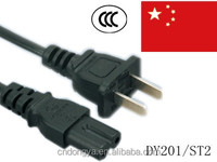 China 2 pin ac power cord plug for Table lamp