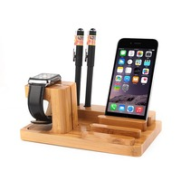 new arrival multifunctional for ipad laptop storage holder wood destop