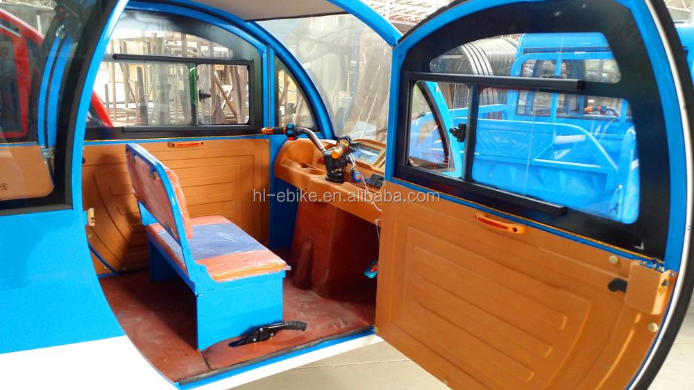 Electric tricycle pickup with double row of seats 11000022