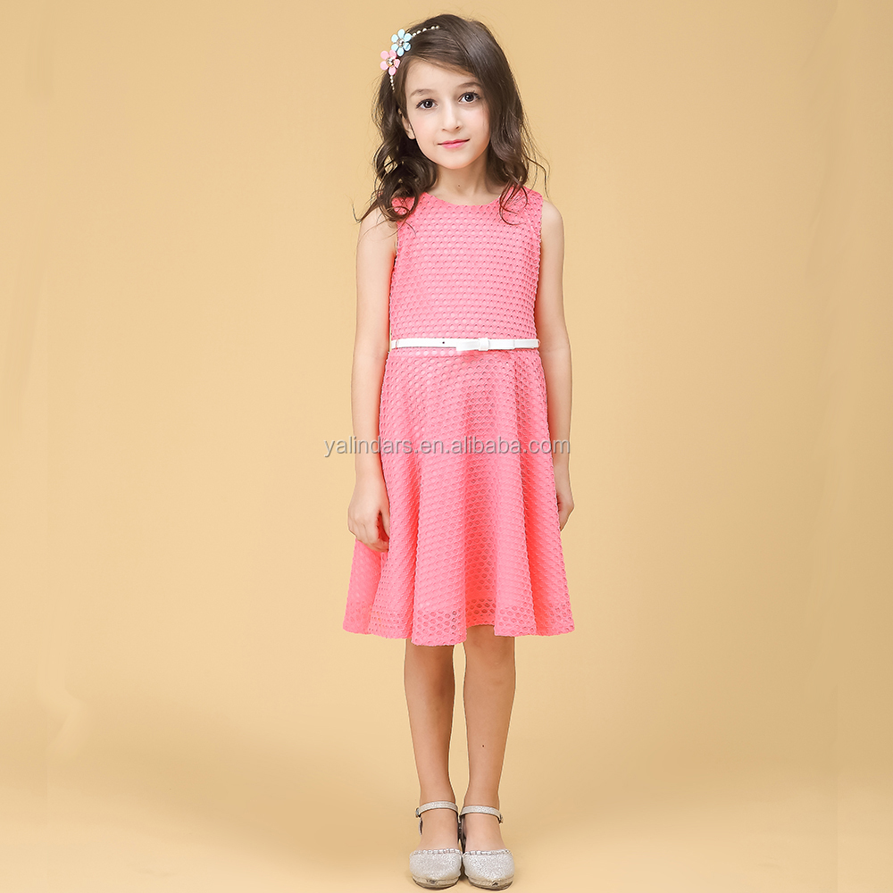 2016 Summer Cheap A Line Frocks Designs Flower Girl Party Dress for Baby Girls Party Wear
