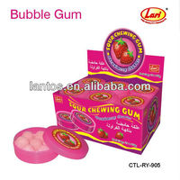 20g Sour powder ball bubble Gum with the good taste