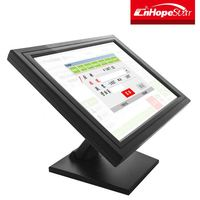 New design squre 12inch LCD monitor VGA with touch optional