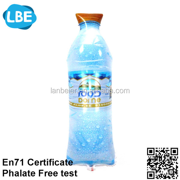 custom mineral water bottle shape balloon mylar balloon for helium balloon