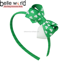 Green Clover St. Patrick's Day Hair Accessory Bowknot Hairbands for Children