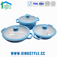 Technique cookware set kitchen ceramic commercial cooking pots set