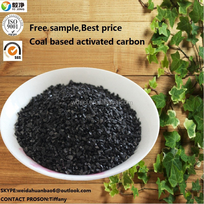 Coal based granular activited carbon with raw material price with SGS certificate in india