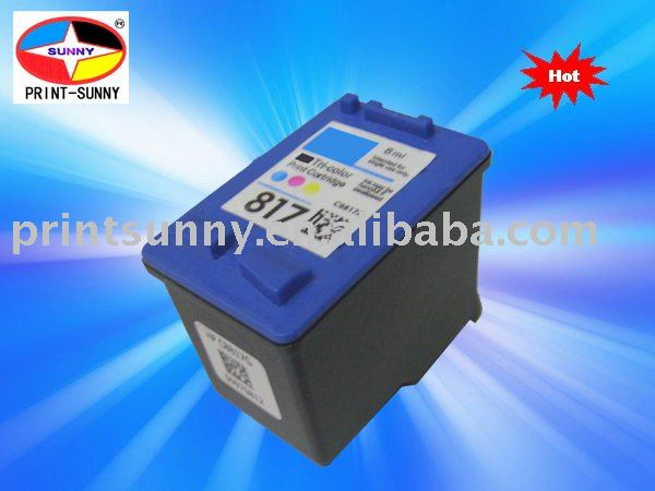 compatible color inkjet cartridge for HP817/8817