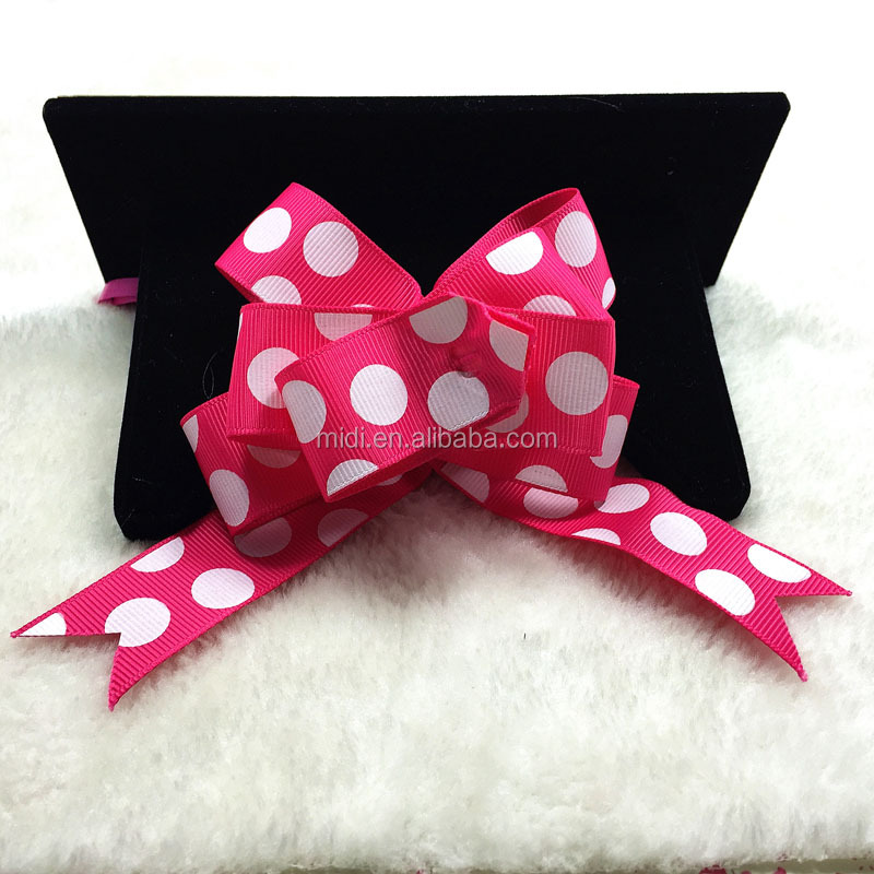 Printed Grosgrain Pull Ribbon Bow for Packing