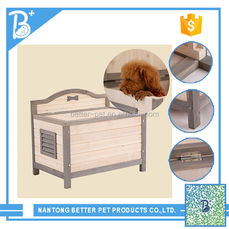 Cheap eco-friendly solid wooden dog house with door